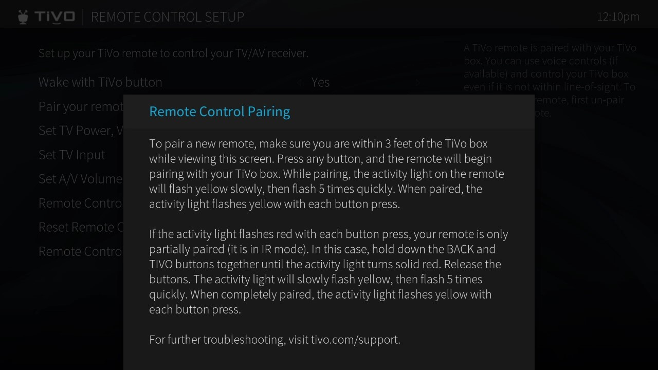 TiVo Voice Troubleshooting