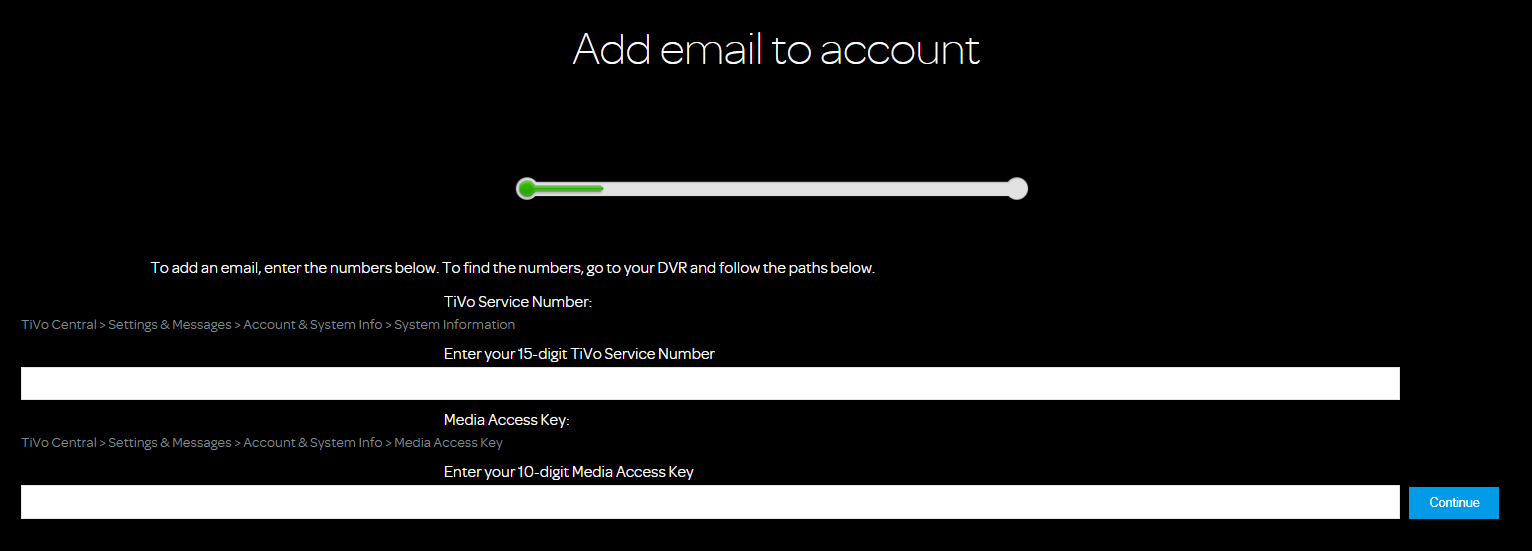 My Account: Online TiVo Account Management Tools